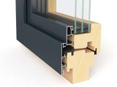Neues Holz-Alu-System E522 / Contour